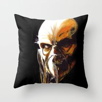 satan Throw Pillows featuring Dr. Satan by Zombie Rust