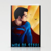 man of steel Stationery Cards featuring Man of Steel by sevillaseas