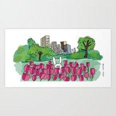 Tulip Bunny Art Print