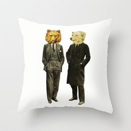 The Likely Lads Throw Pillow