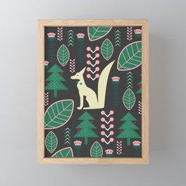 Traditional Christmas festival with fox Framed Mini Art Print