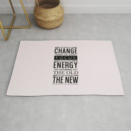 Lab No. 4 The Secret Of Change Socrates Life Motivational Quote Rug