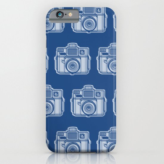 I Still Shoot Film Holga Logo - Reversed Blue iPhone & iPod Case