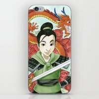 mulan iPhone & iPod Skins featuring Mulan by Aimee Steinberger