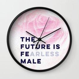 The Future is Female #girlboss #empowerwomen Wall Clock