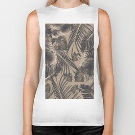 Tropical Jungle Leaves Dream #5 #tropical #decor #art #society6 Biker Tank