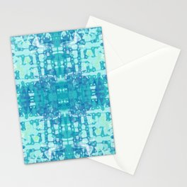 Teal Tie Dye Jacobs Ladder Stationery Cards