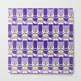 Super cute animals - Cute Kitty Cat Purple Metal Print