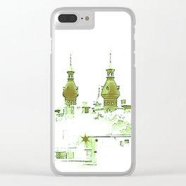 University of Tampa -- Green Clear iPhone Case