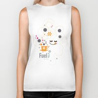 pocket fuel Biker Tanks featuring Fuel of  the day by inkdesigner
