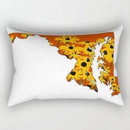 Black Eye Susan State Rectangular Pillow