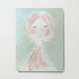 Winter Beard, Ginger Haired Girl Metal Print