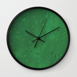 Green Rain  Wall Clock