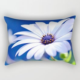 Happy White Daisy  by Kaye Menner Rectangular Pillow