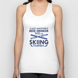 Beer Drinker Skiing Unisex Tank Top