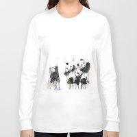 pandas Long Sleeve T-shirts featuring Pandas by ellaclawley