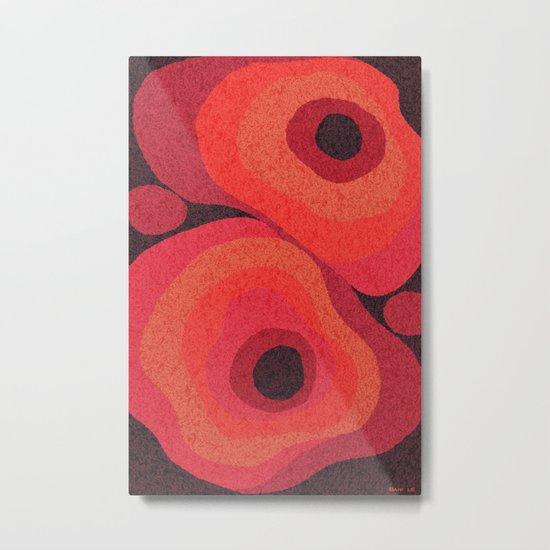 Danish Digital Flower Rug Metal Print
