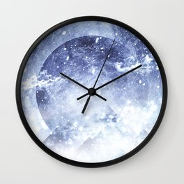 Even mountains get cold Wall Clock