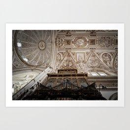 Organ and Ceiling (Cordoba Cathedral) Art Print