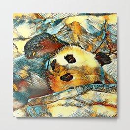 AnimalArt_Panda_20170602_by_JAMColorsSpecial Metal Print