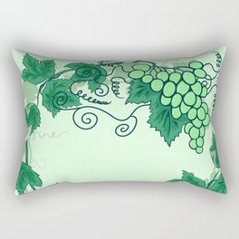 Abstract grapevine with frame from leaves Rectangular Pillow