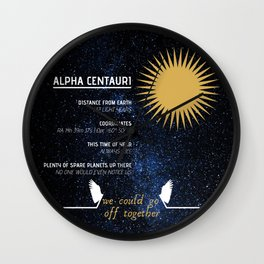 Alpha Centauri - Good Omens Fanart Wall Clock