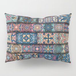 Vintage patchwork with floral mandala elements Pillow Sham