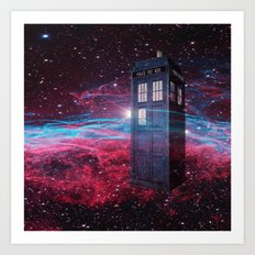 Dr Who police box  Art Print