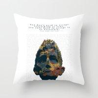kafka Throw Pillows featuring Kafka by Ned & Ems