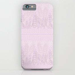 Grains on the Plains in Muted Mauve iPhone Case