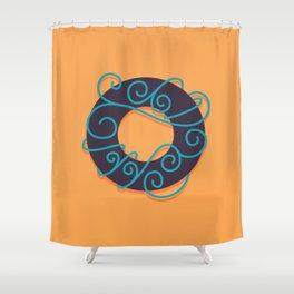 Alphabet Drop Caps Series- O Shower Curtain