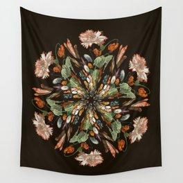 Flemish Floral Mandala 3 Wall Tapestry