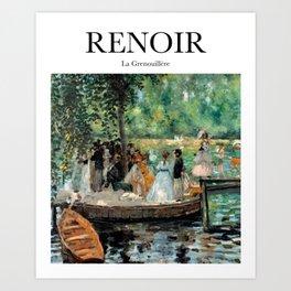 Renoir - La Grenouillère Art Print
