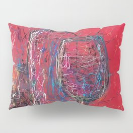 Fun Colorful Modern Wine Art  Fun Colorful Modern Wine Art (wine bottle & glasses) by lena owens Pillow Sham