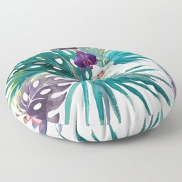 Tropical Floral Pattern 04 Floor Pillow