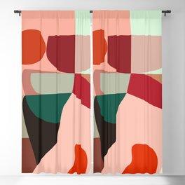 Geometric shapes Blackout Curtain