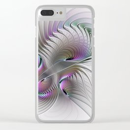 Remember, Abstract Fractal Art Clear iPhone Case