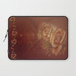 Abstract VintageBronze Roses Laptop Sleeve