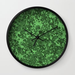 Spring Green Hybrid Camo Pattern Wall Clock