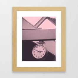 Catching the 2:50 Framed Art Print