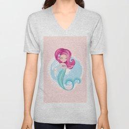 Cute little mermaid illustration Unisex V-Neck