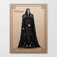 valar morghulis Canvas Prints featuring Melkor by wolfanita
