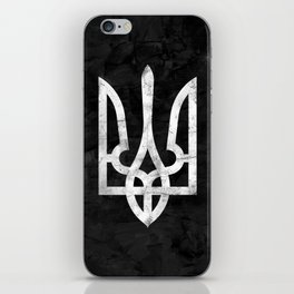 Ukraine Black Grunge iPhone Skin