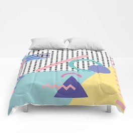 Memphis Pattern 5 - 80s - 90s - Retro Comforters