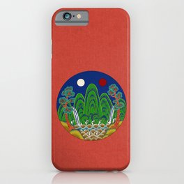 Minhwa: Sun, Moon and 5 Mountains: King's painting A_1 Type (Korean traditional/folk art) iPhone Case