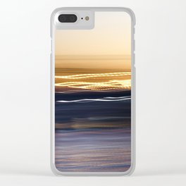 Sunset Sweep Clear iPhone Case