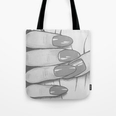 'Hold me tight don't let me go' - Black and White - Ashley Rose Standish Tote Bag