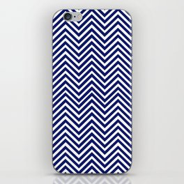 Popular Blue Zigzag Chevron Retro Vintage Design                       iPhone Skin