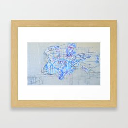 Windshield Wipers Framed Art Print