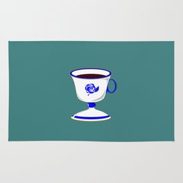 Cup of Coffee in Blue Flow Vintage China Rug